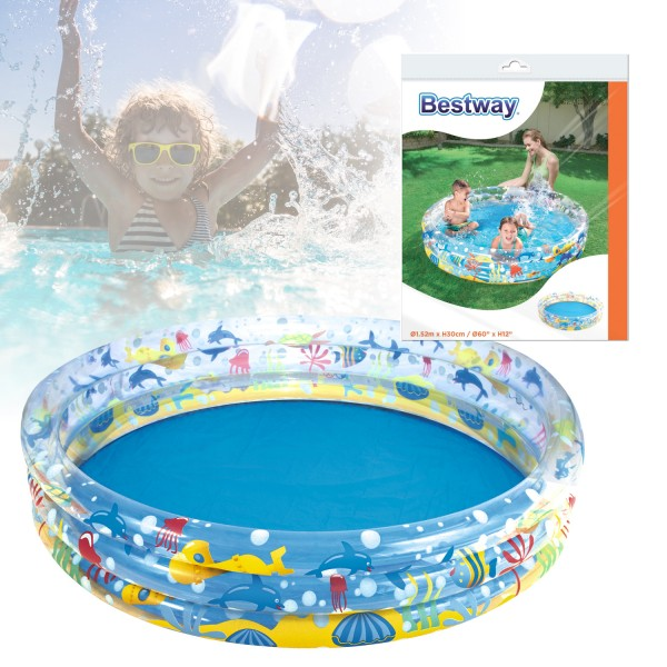 Bestway® Deep Dive 3-Ring 152 x 30 cm Planschbecken